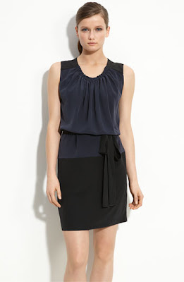 Robert Rodriguez Colorblock Silk Dress