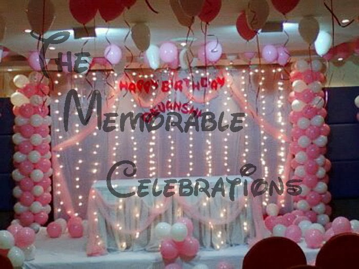 Pin naming ceremony birthday party organisers in for Balloon decoration for naming ceremony