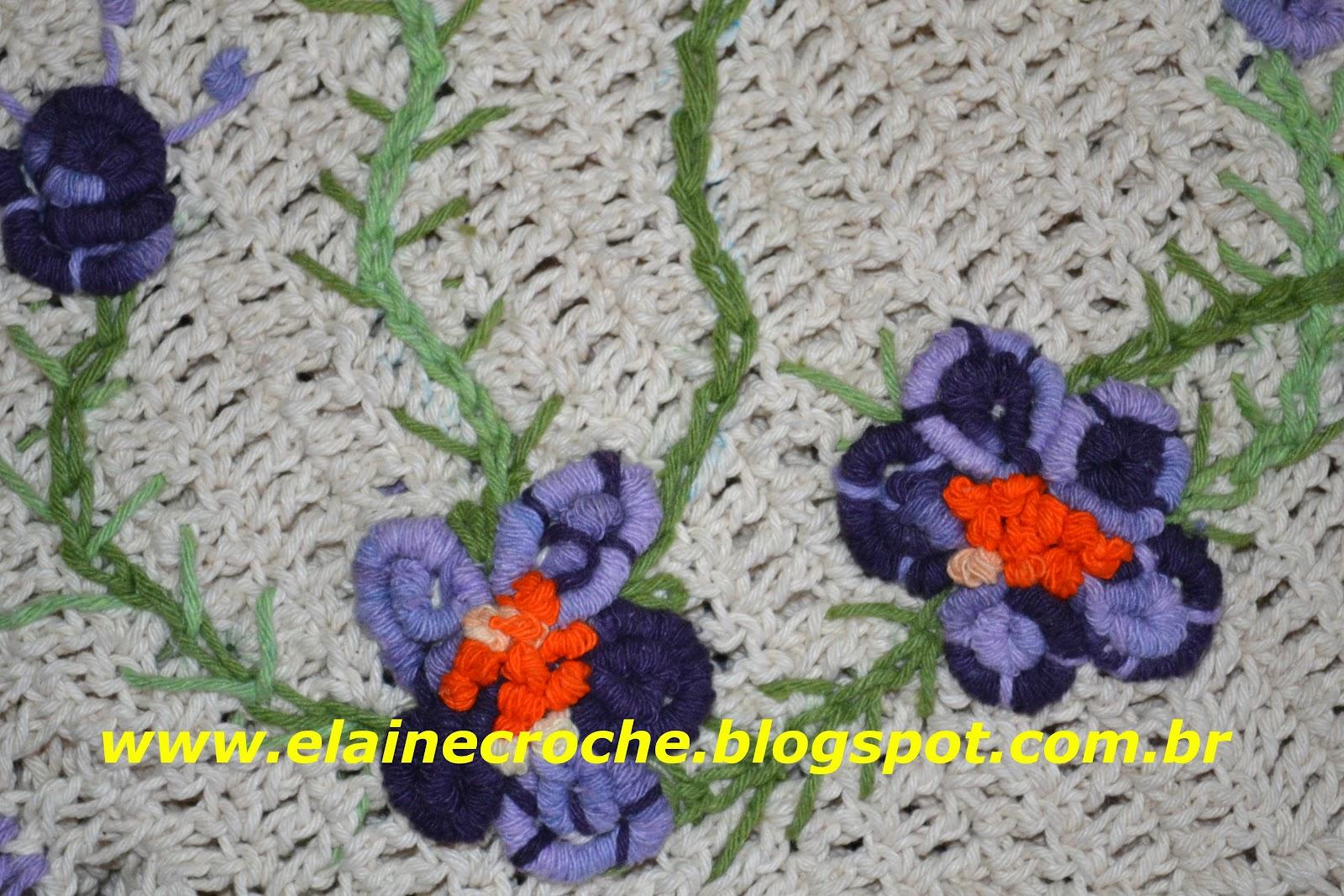 Elaine Croche: Bordado em Crochê Barbante Multicores Premium #C52F06 1600 1067