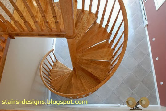 wood spiral stairs