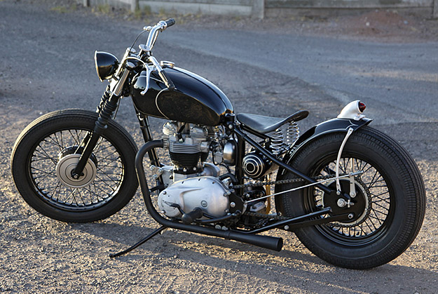 Her Majestys Thunder  Jon Rispantes 1970 Custom Triumph Bobber