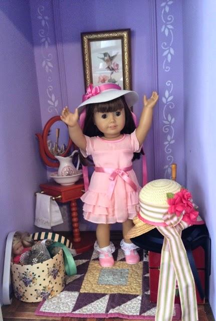 Karen loves wearing hats!