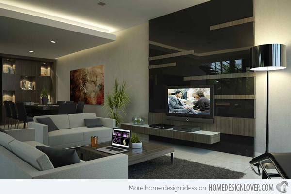 Ide interior desain ruang keluarga modern kontemporer for Decoration design contemporain