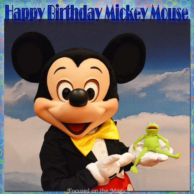 """Mickey and his pal Kermit at The Philly Disney """"On the Road"""" Celebration"""