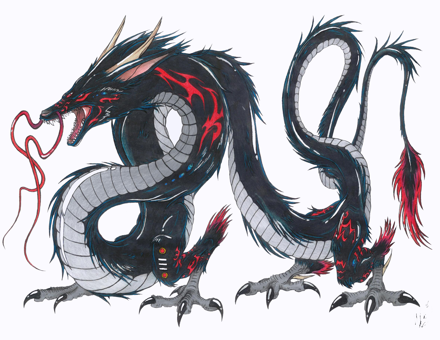 The pisces the dragon the phoenix explaination of the author a symbol of good fortune sign of intense power the oriental dragon is regarded as a divine beast the reverse of biocorpaavc Images