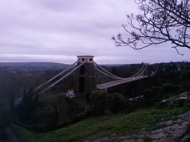 Bristol Clifton Suspension Bridge Winter Morning