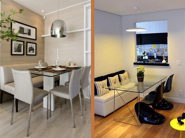 Sala De Jantar Pequena Com Janela ~ Construindo Minha Casa Clean Salas de Jantar Pequenas  Mesa