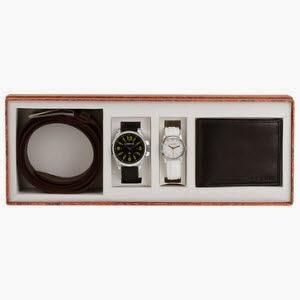 Jabong: Buy Maxima Gift Set Box (2 Watches +1 Wallet + 1 Belt) at Rs. 1052