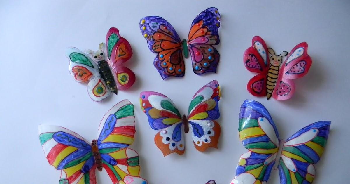 Бабочки из разных материалов своими руками 45