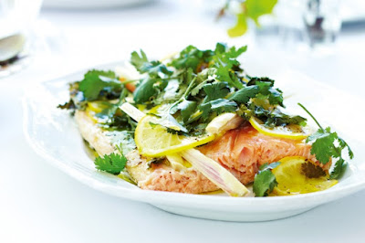 Kaffir lime and lemon salmon Recipe