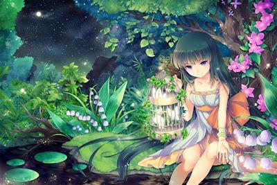 Princesa de la naturaleza - Plantas y flores - Ilustración