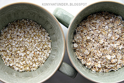 quinoa flakes and porridge oats