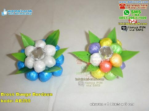 Bross Bunga Berdaun