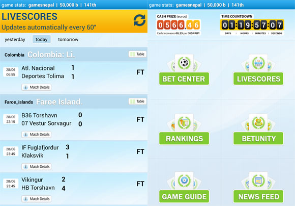 Soccer Betting Game Livescores