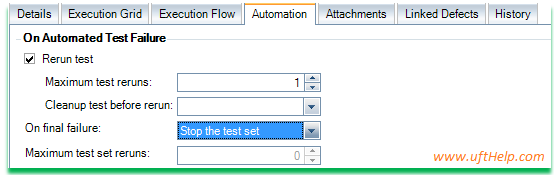 Automation Tab in ALM