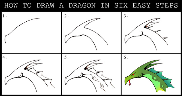how to draw the welsh dragon step by step