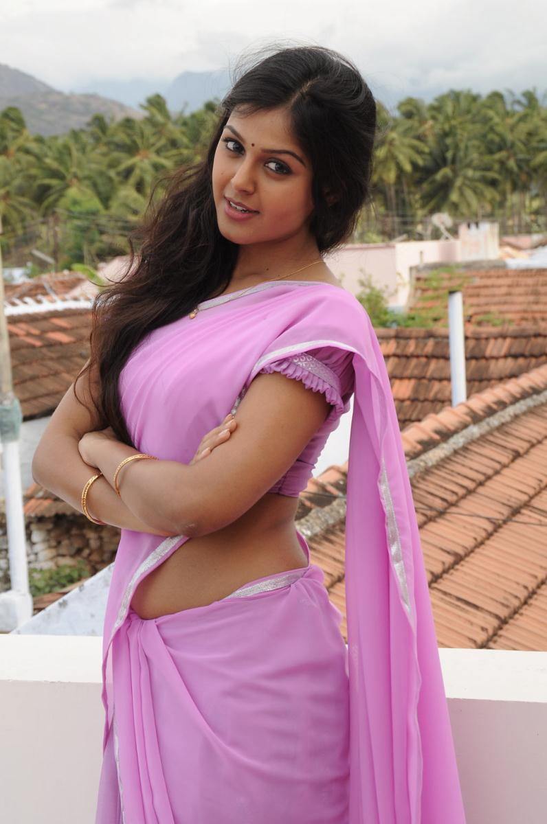 sex monal gajjar   in sexy pink saree hot photos stills