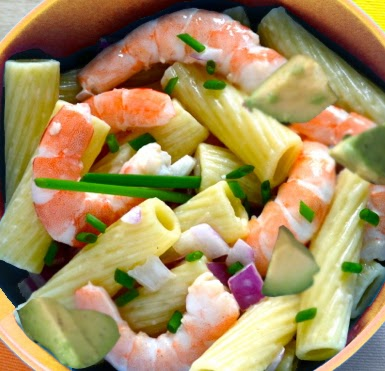 Lb Penne, Rigatoni OR Rotelle Pasta 1 Lb. Cooked Shrimp 2 Avocados ...