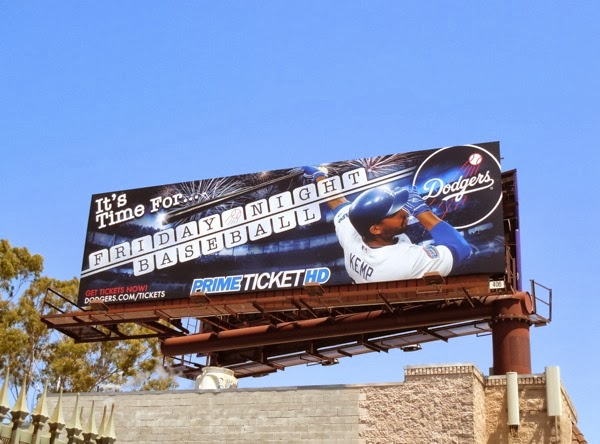 Dodgers Friday Night Baseball billboard May 2011