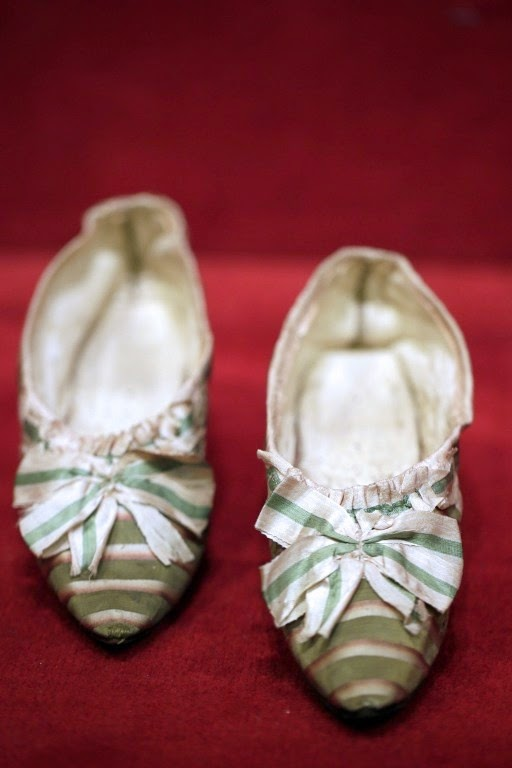 Marie Antoinette's green striped shoes