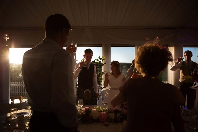Wedding Photography Doonbeg Ireland, wedding toast