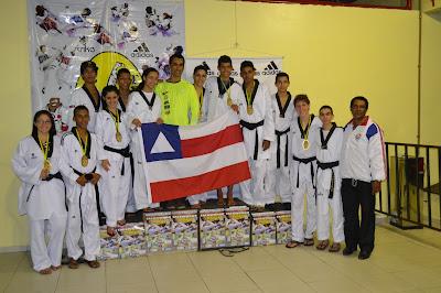 Seleção de Tekwondo da Bahia brilha no sul do país