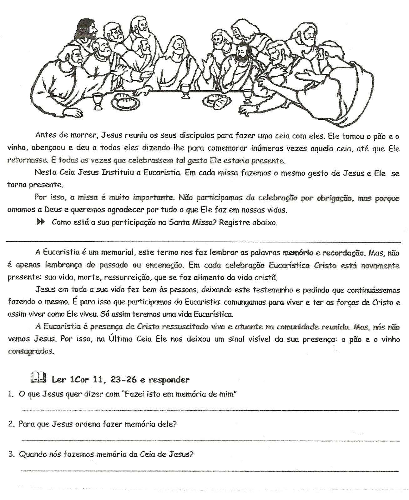 Populares Catequese Fonte de Vida: atividades para catequese VA06