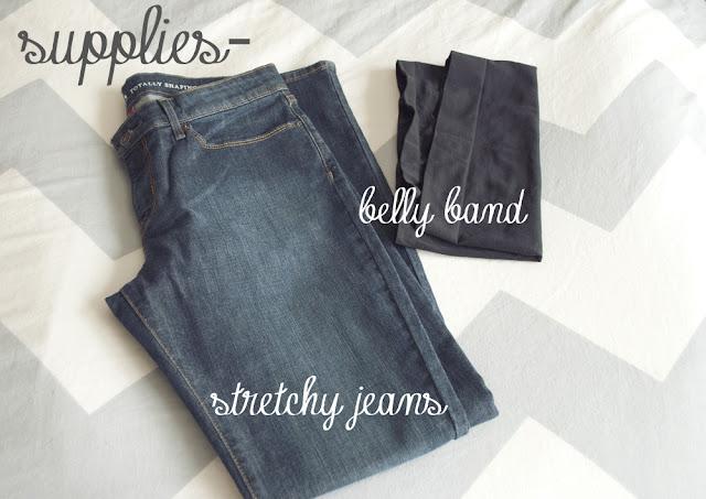 Tự làm quần Jeans cho mẹ bầu năng động - Ảnh 2