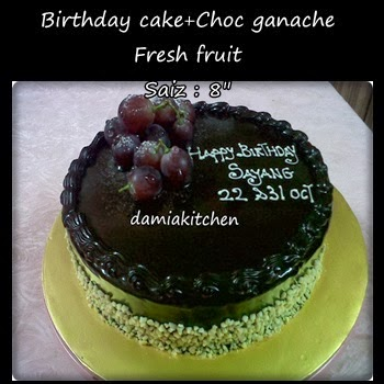 Coklat Kek Ganache