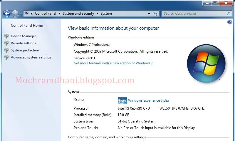 Windows 7 Professional Full Version Free Download | Moch.R Blogger