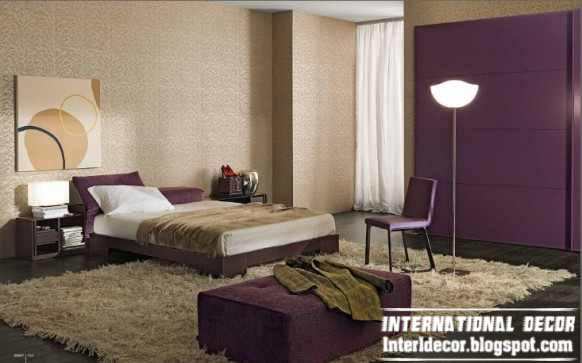 Modern Turkish Bedroom Designs And Ideas With Purple Furniture 2015
