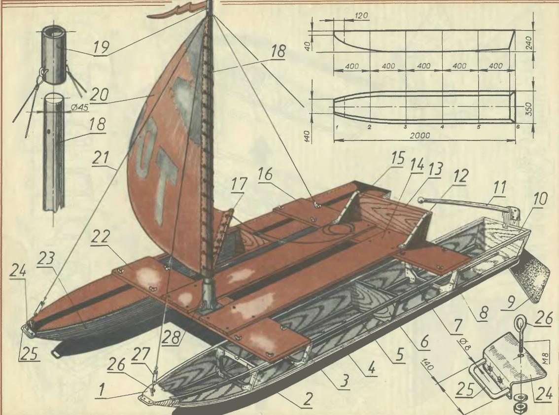 деревянная лодка с парусом своими руками