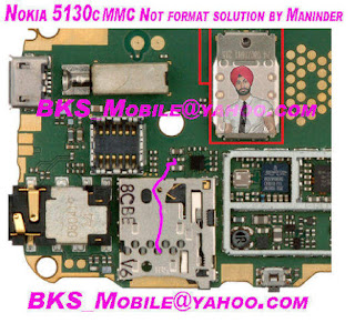 nokia 5130 mmc not formated