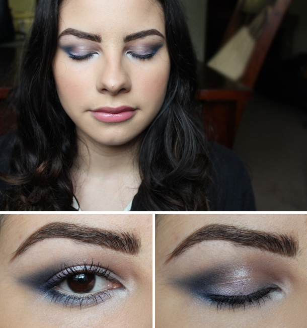 make up for ever mufe 60 blue eyeshadow navy matte coastal scents light blue s02 mac moon's reflection makeup look