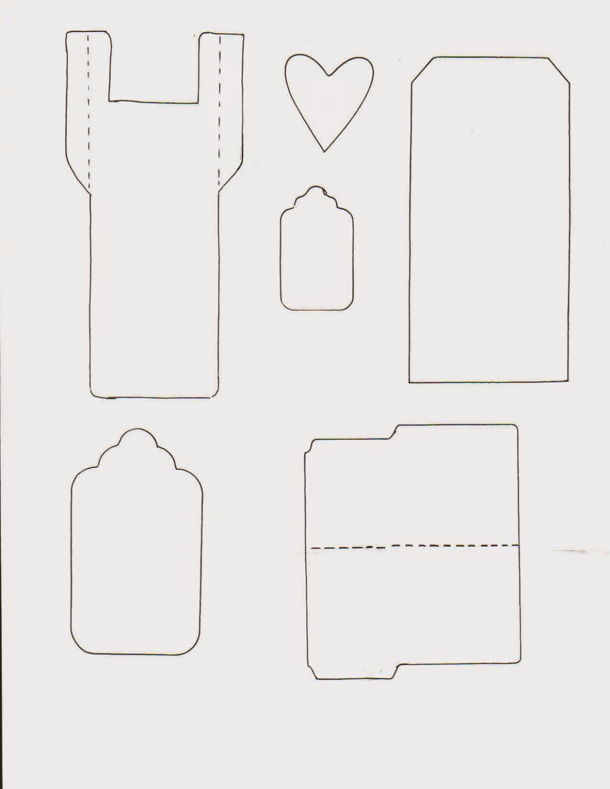 Envelope, Tag, File Folder Templates