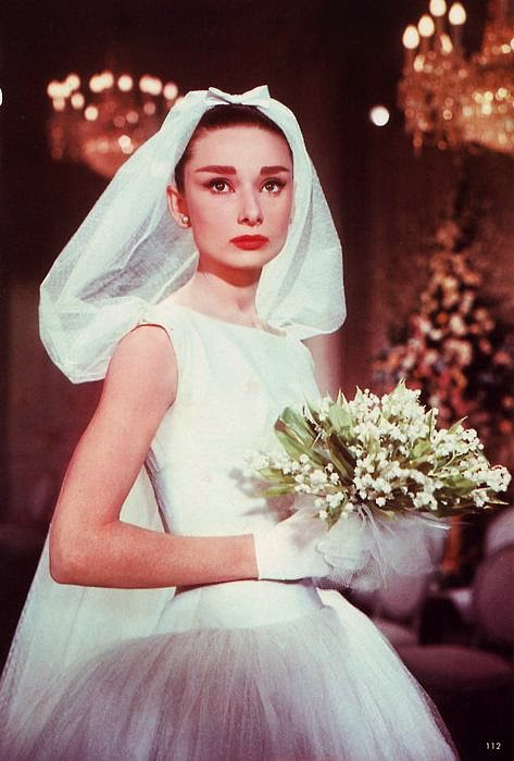 Vintage wedding dresses in the movies: Audrey Hepburn in  Givenchy, for Funny Face