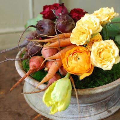 Cắm Hoa Và Rau Củ Quả 04