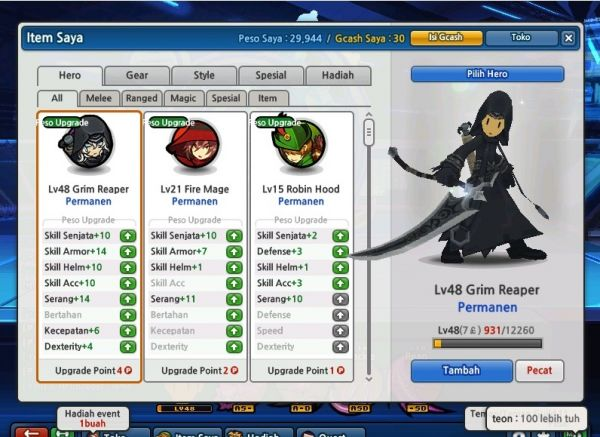 Cheat Lost Saga HERO PERMANENT 29 Agustus 2012 WORK 100%
