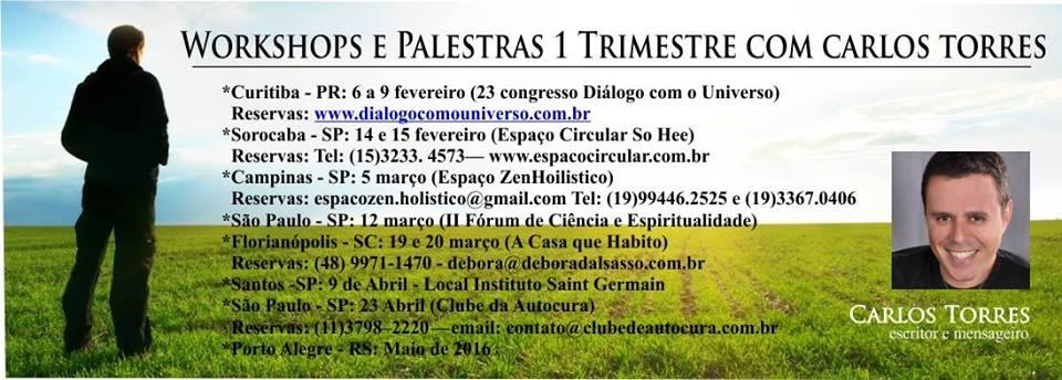 Agenda de Workshops e Palestras no Brasil