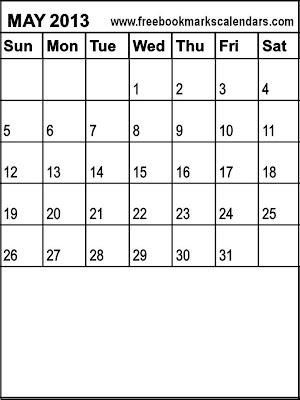 Blank Calendar 2013