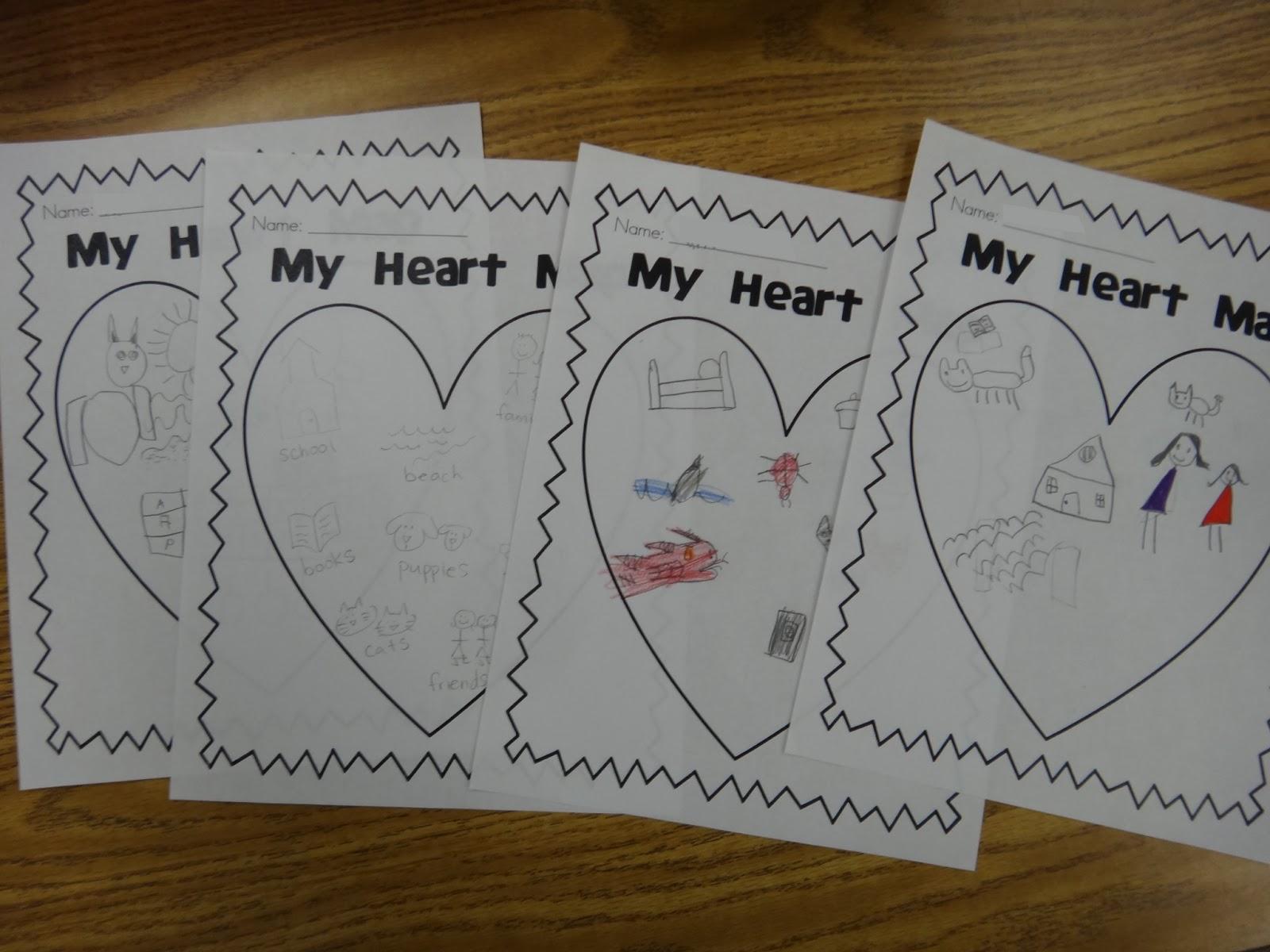 Heart Map Writing Printable