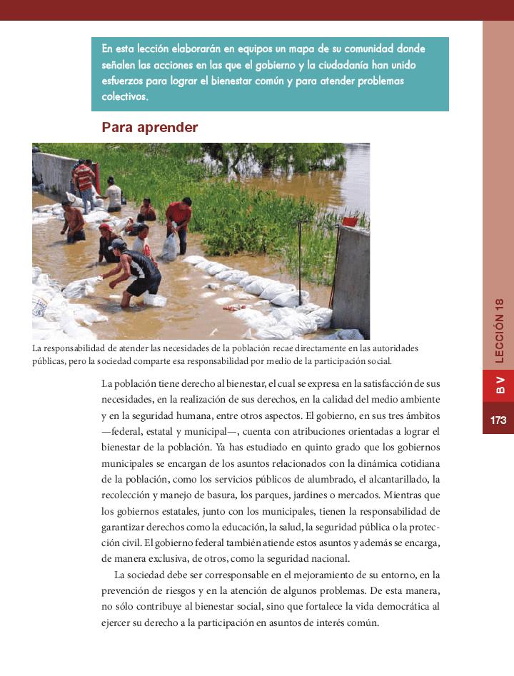 Corresponsabilidad en los asuntos públicos - Formación Cívica y Ética 6to Bloque 5 2014-2015
