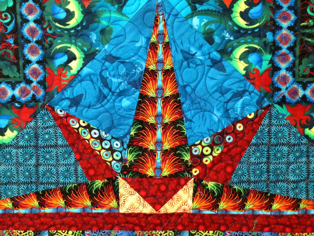 Leanne Strum Temple of Poseidon Quilt