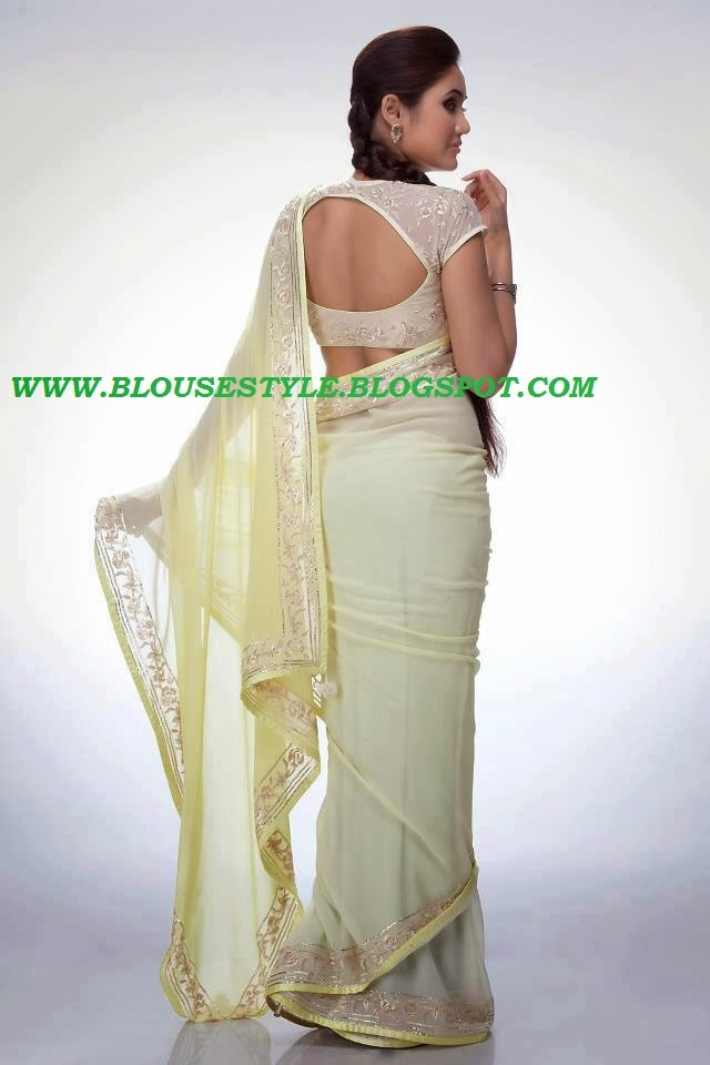 HALF WHITE COLOUR SARI BLOUSE