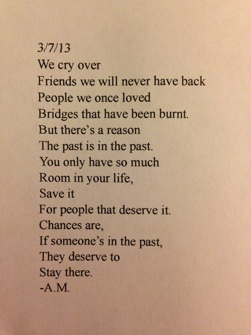 Sad Quotes About Past Love : we cry over friends we will never have back people we once loved ...