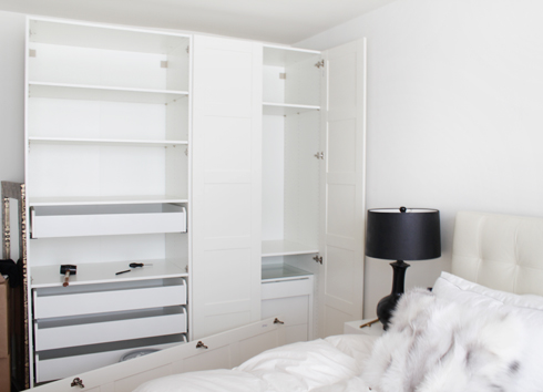 This Time I Chose A Closet With Doors U0026 All White. This IKEA Closet System  Is Called PAX Wardrobe, The Doors Are White BERGSBO.