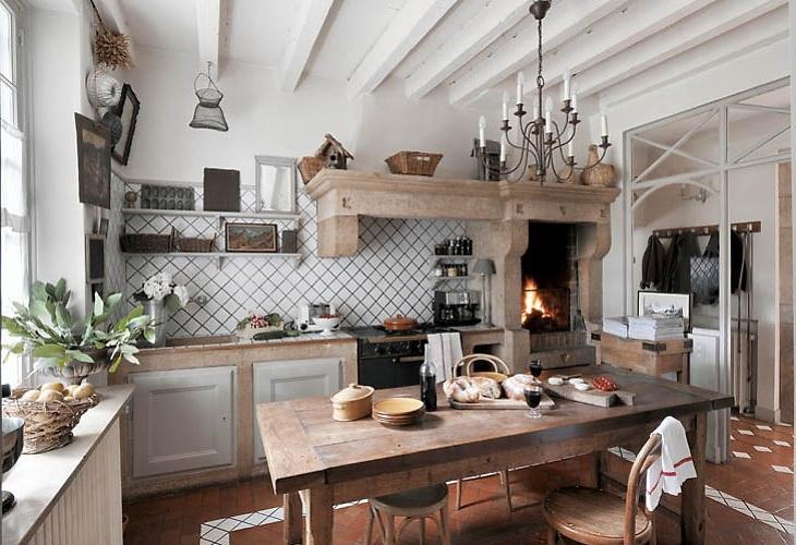 Bonito Cocina Blog De Casa De Campo Francés Bosquejo - Ideas de ...