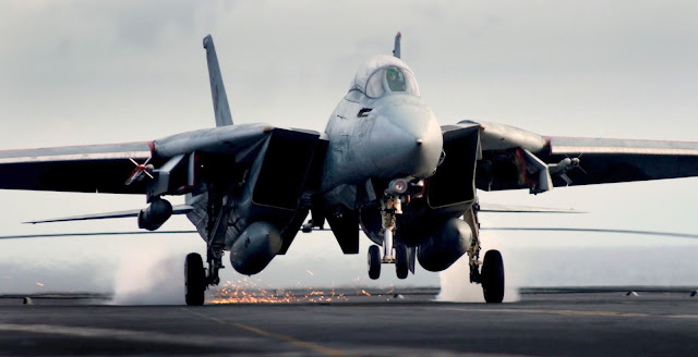 F-14D Tomcat makes an arrested landing aboard USS John C. Stennis