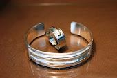 Conjunto bracelete e anel