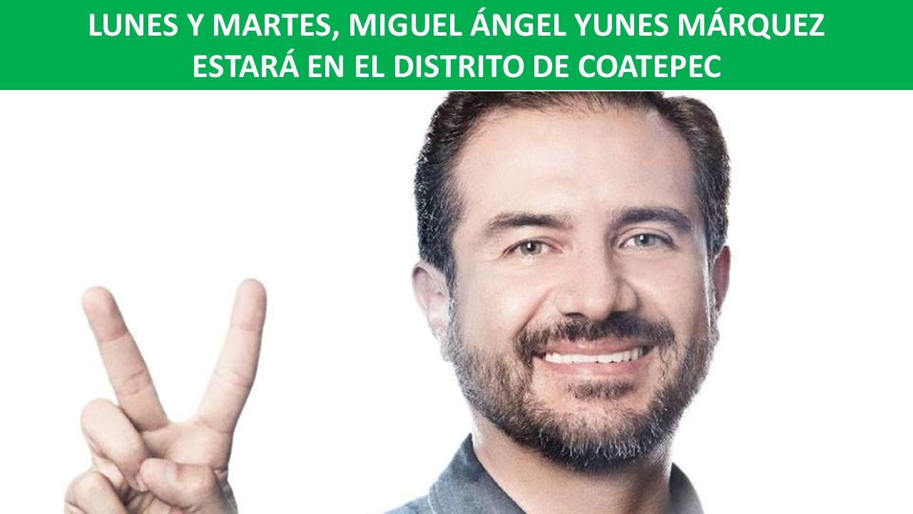 YUNES MÁRQUEZ ESTARÁ EN EL DISTRITO DE COATEPEC